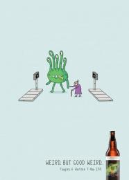 Fuggles & Warlock: Crosswalk Print Ad by DDB Vancouver