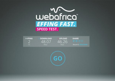 Webafrica: Webafrica Effing Fast Internet, 6 Outdoor Advert by The Jupiter Drawing Room South Africa