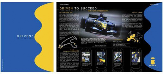 F1 World Champion Sponsorship: DRIVEN TO SUCCEED Print Ad by Ntt Advertising