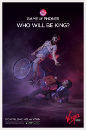Virgin Mobile: Game of Phones - Hipster Print Ad by Havas Worldwide Sydney