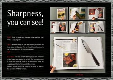 WMF: WMF. SHARPNESS, YOU CAN SEE! Print Ad by Mediaplus Hamburg, Serviceplan Hamburg