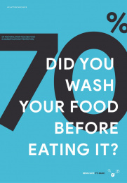 World Health Organization/ WHO: Facts to safe - Did you wash your food before eating it? Print Ad by Grow Advertising Group, Bogotá, Colombia