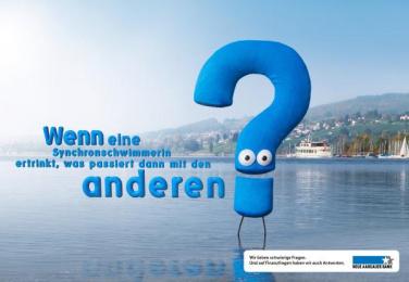 Neue Aargauer Bank: Swimmer Print Ad by Euro Rscg Zurich
