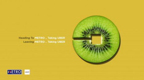 Uber: Kiwi Print Ad by AB&Partners