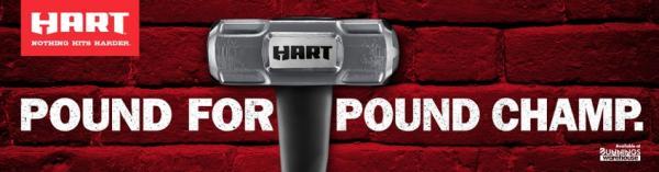 Hart: Sledge Hammer Outdoor Advert by Fenton Stephens