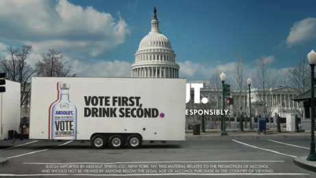 Absolut: Drink Responsibly. Vote Responsibly. Film by BBH New York