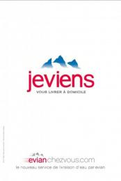 Evian Water: Je viens Print Ad by BETC Euro Rscg Paris