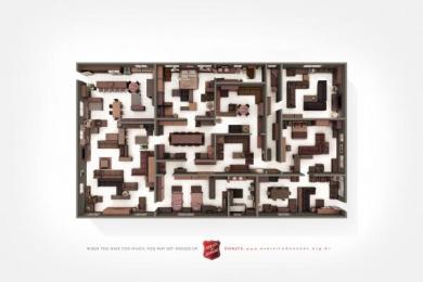 Salvation Army: Labyrinth Print Ad by WMcCann Sao Paulo