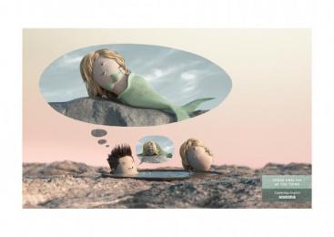 Acadomia: Mermaid Print Ad by Les Gaulois