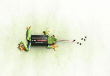 Faber-Castell: Frog Print Ad by Inbrax Santiago