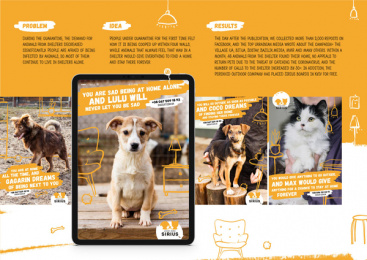 Sirius Animal Shelter: Pet Dreams Print Ad by Tabasco Kiev