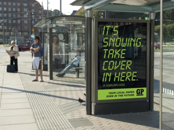 GP: TAKE COVER Outdoor Advert by Forsman & Bodenfors Gothenburg
