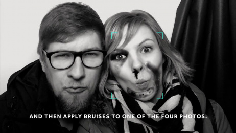 Terre Des Femmes: Bruise Automat -  The photo booth against domestic violence Ambient Advert by DDB Berlin, Polyxo Studios