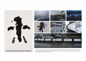 Greenpeace: OIL ON CANVAS STREET POSTERS Direct marketing by Publicis Mojo Auckland