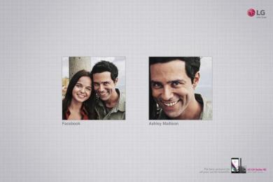 LG: Facebook vs Ashley Madson Print Ad by Y&R Sao Paulo