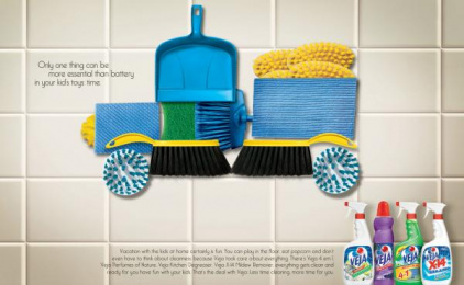 Veja Degreaser Kitchen Cleaner: Grounded Print Ad by Euro Rscg Sao Paulo