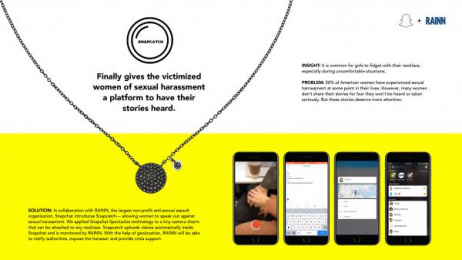 Snapchat: Case study Print Ad by Miami Ad School