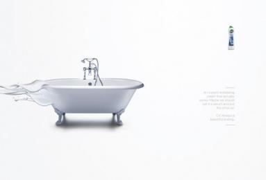 Cif: Bath Print Ad by MullenLowe London