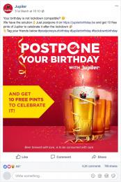 Jupiler: Postpone your Birthday - Digital Digital Advert by BBDO Brussels