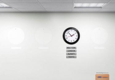 Ems: Clock Print Ad by Cheil Kazakhstan