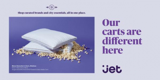 Jet.com: Pillows Popcorn Print Ad by Pereira & O'Dell New York