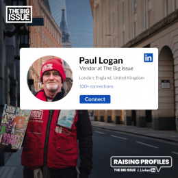 The Big Issue: Raising Profiles: Paul Digital Advert by FCB Inferno London