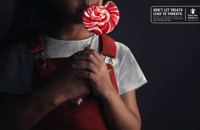Save the Children Indonesia: Sweet Threats, 1 Print Ad by Hakuhodo Jakarta