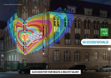 17Ziele: 17 Live Projections, 16 Print Ad by HUisHU. Digitale Kreativagentur, Hamburg & Hannover, Germany