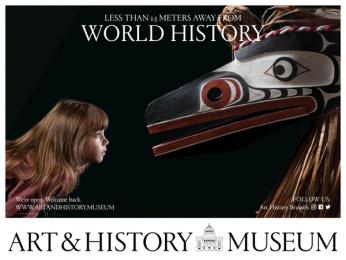 Art & History Museum: Less Than 1.5 Meters Away From World History, 1 Outdoor Advert by Kopstoot, Belgium