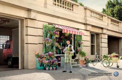Volkswagen Trucks: Flower Boutique [spanish] Print Ad by ALMAP BBDO Brazil