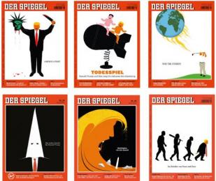 Der Spiegel: Donald Trump Cover Series DER SPIEGEL magazine Print Ad by Edel Rodriguez Studio / Mt. Tabor