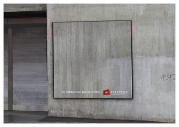 Teleclub: Interruptions, 2 Outdoor Advert by Advico Y&R Zurich