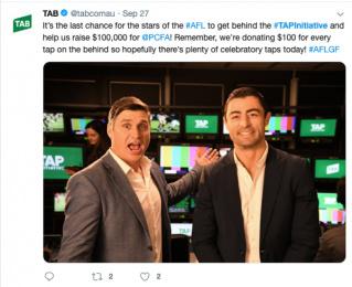 Tab (Totalisator Agency Board): Tap Initiative - Social Print Ad by M&C Saatchi Sydney