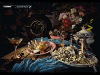 Honda Original Spare Parts: Spring Print Ad by Euro Rscg Madrid