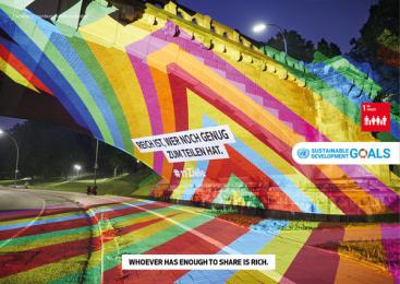 17Ziele: 17 Live Projections, 18 Print Ad by HUisHU. Digitale Kreativagentur, Hamburg & Hannover, Germany