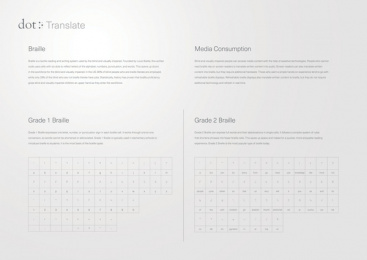 Dot Incorporation: Dot Translate. The First Braille Translator Based on AI., 3 Digital Advert by Serviceplan Munich