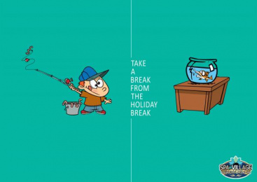 Hamat Gader: Fishing Print Ad by Addict