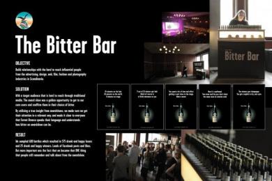 Martini: BITTER BAR Outdoor Advert by Ogilvy Copenhagen