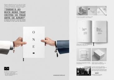onebookforpeace.org: One Book For Peace [image] Digital Advert by New Moment New Ideas Company Belgrade, Y&R Dubai