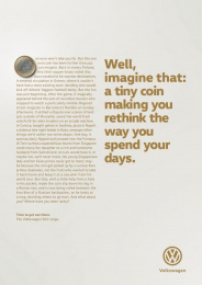 Volkswagen: Coin Print Ad by DDB Berlin