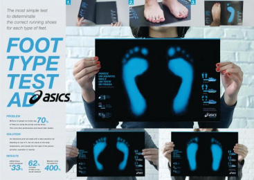 Asics: Foot Type Test Ad [presentation image] Print Ad by Neogama