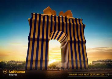 Lufthansa: Arc De Triomphe Print Ad by Miami Ad School Hamburg