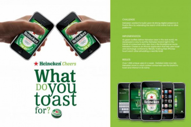 Heineken: HEINEKEN CHEERS Direct marketing by J. Walter Thompson San Juan