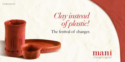 MANI: Clay instead of plastic Print Ad by Response India