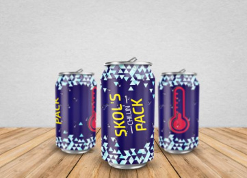 Skol: Chilling Pack, 3 Design & Branding by Miami Ad School Miami