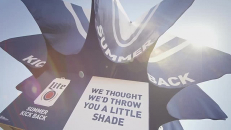 Miller Lite: Throwing Shade Ambient Advert