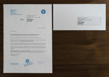 Doctors Of The World: The Non-eviction Letter, 5 Direct marketing by DAREWIN