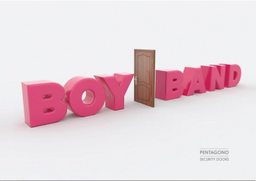 Pentagono Security Doors: Boy Band Print Ad by Dhélet Y&R