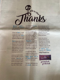 Cadbury: Fill In The Thanks, 1 Print Ad by Ogilvy South India, Wavemaker Creative