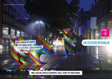 17Ziele: 17 Live Projections, 9 Print Ad by HUisHU. Digitale Kreativagentur, Hamburg & Hannover, Germany